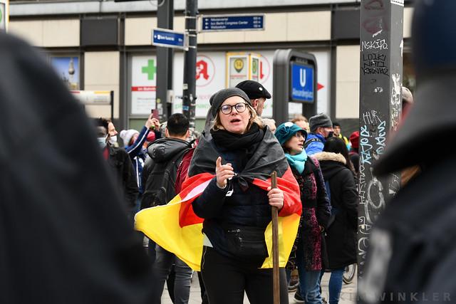 """28. März 2021 - Verschwörungsideologische Proteste zum 1. Jahrestag der """"Kommunikationsstelle Demokratischer Widerstand"""""""