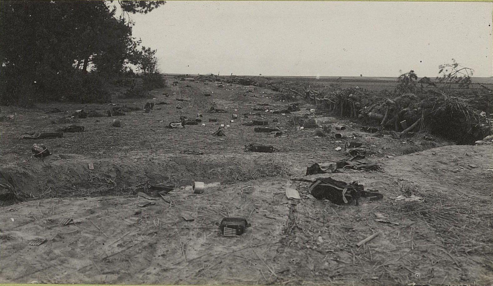 17. Австро-германские окопы, взятые между с. Высоке и Тарнавкой. Укреплённая опушка леса