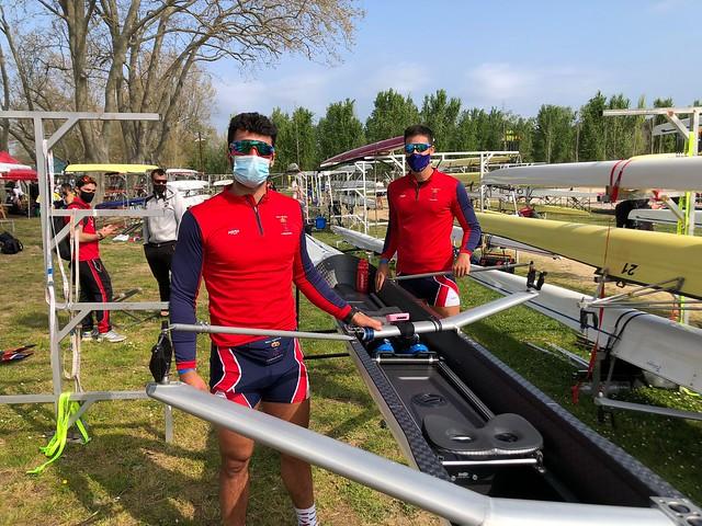 Andrés Moreno y Juan Miguel Palomino, oro en dos sin juvenil