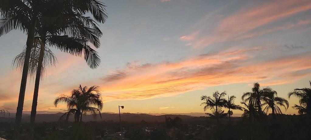 Sunset over Elanora, Queensland.
