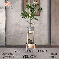 Bloom! - Tree plant stand YellowAD