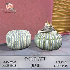 Bloom! - Pouf Set BlueAD