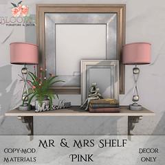 Bloom! - Mr & Mrs Shelf PinkAD
