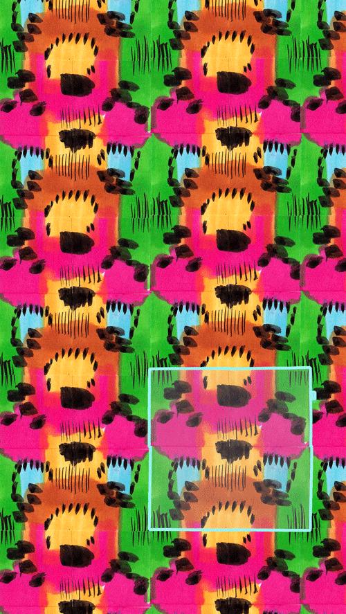 manual repeat abstracted animal print