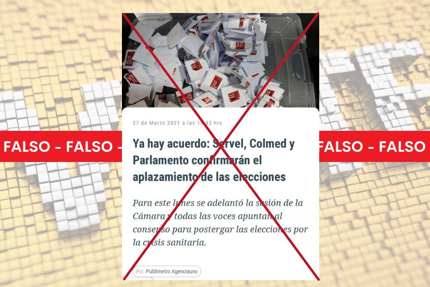 Es falso que Servel tenga atribuciones para modificar fecha de las elecciones, como se da a entender en el titular de Publimetro