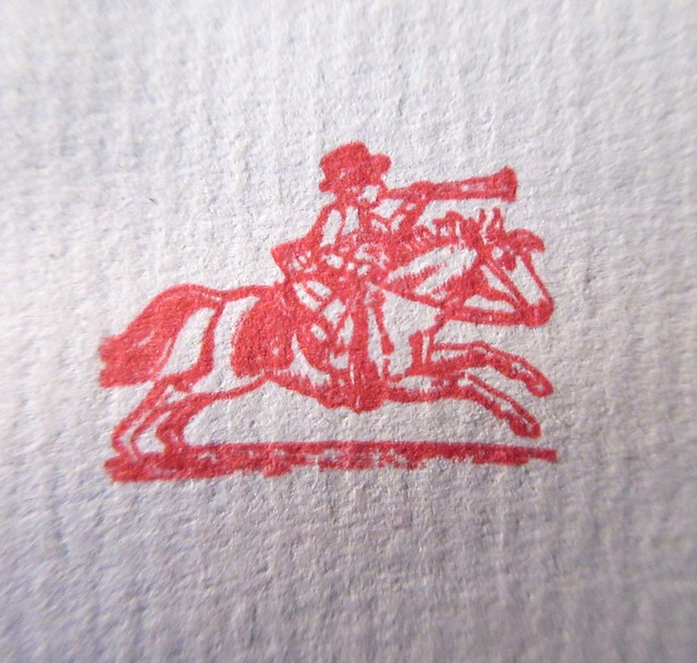 2021 Red Herald on Horseback Stamp Logo 3476