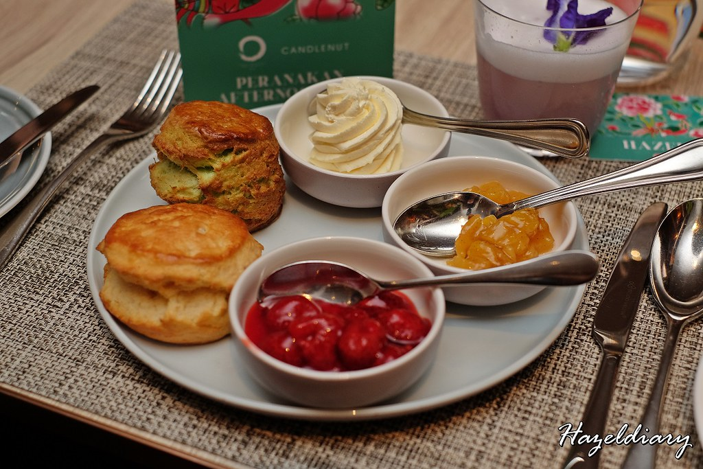 Peranakan Afternoon Tea Four Seasons and Candlenut-Scones