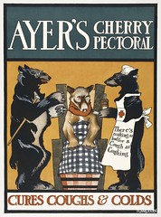 Vintage Ayer's Cherry Pectoral Poster (ca. 1890–1907) print in high resolution by Edward Penfield. Original from The New York Public Library. Digitally enhanced by rawpixel.