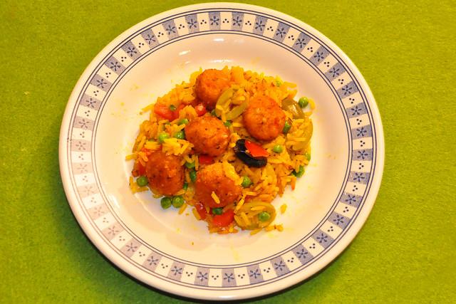 März 2021 ... Falafel (Kichererbsenbällchen) mit Erbsen-Tomaten-Reis ... Brigitte Stolle