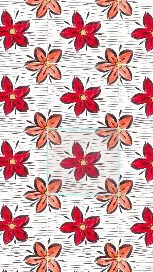 manual repeat red flowers