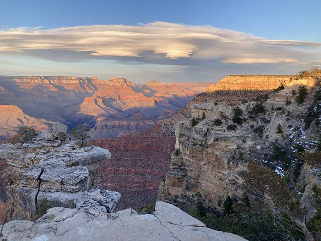 Lenticular Clouds and Sunset Over the Grand Canyon