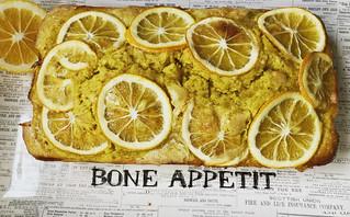 Lemony turmeric tea cake