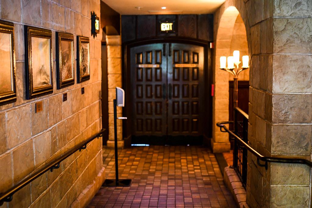 Le Cellier hallway Epcot
