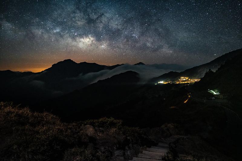 合歡山銀河|Taiwan