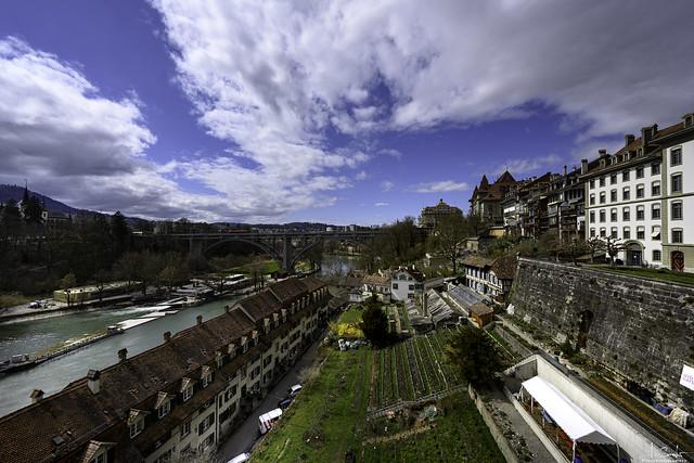 View from Münsterplattform - Bern City - Switzerland