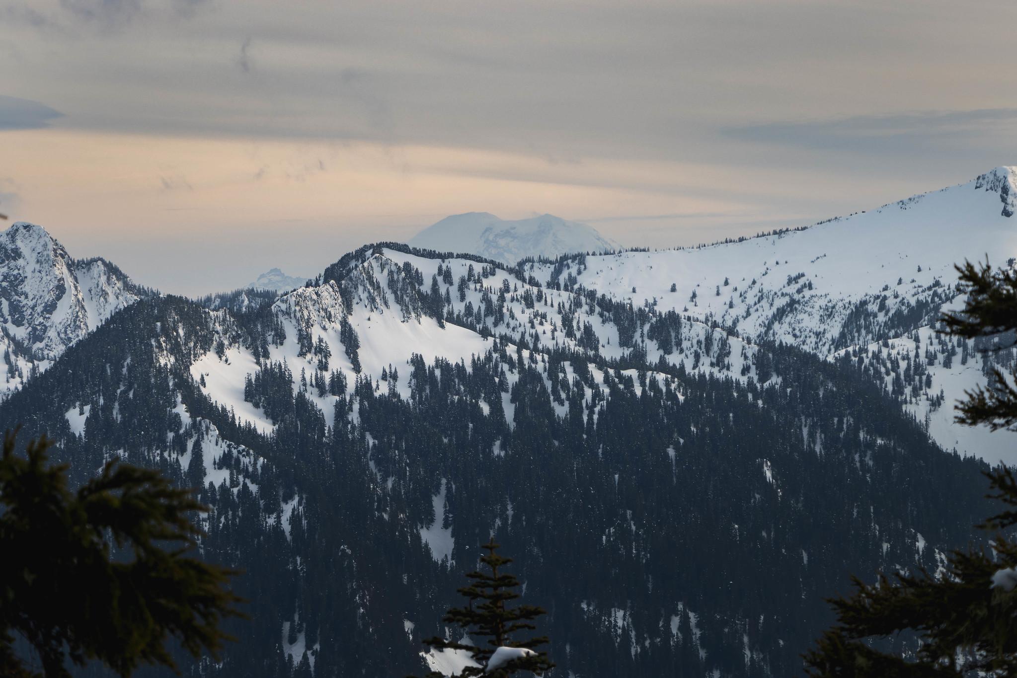 Mount Rainier's send-off