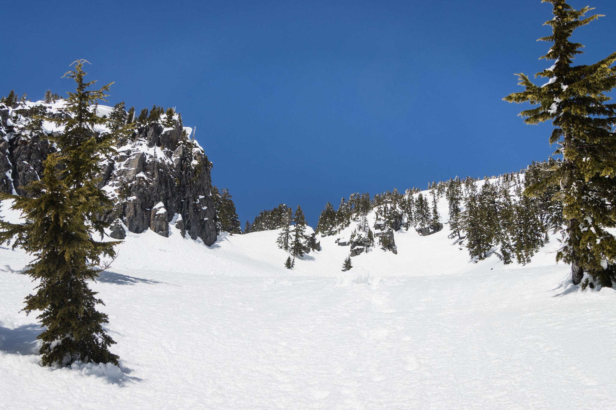 Treen Peak's south face