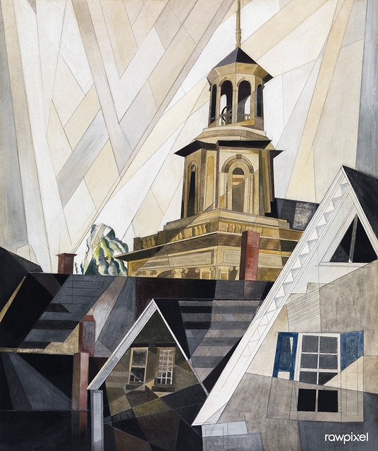 After Sir Christopher Wren (1920) painting in high resolution by Charles Demuth. Original from The MET Museum. Digitally enhanced by rawpixel.