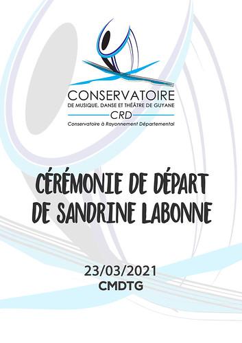 Cérémonie de départ de Sandrine LABONNE (23/03/2021)