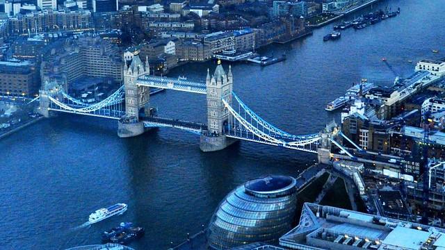 Tower Bridge from the Shard, London
