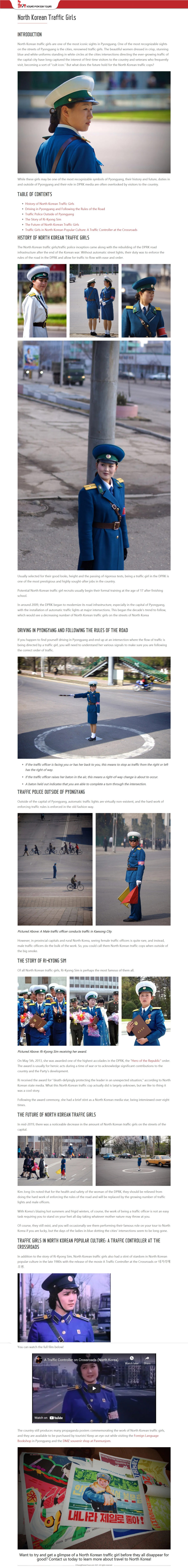 North Korean Traffic Girls info page @  Young Pioneer Tours 2021 51080871057_8e61924f6e_o