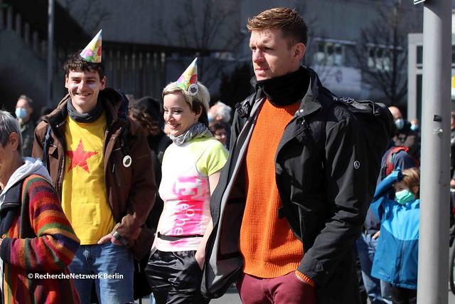 28.03.2021 Berlin: 1 Jahr verschwörungsideologische Proteste gegen Corona-Infektionsschutz in Berlin