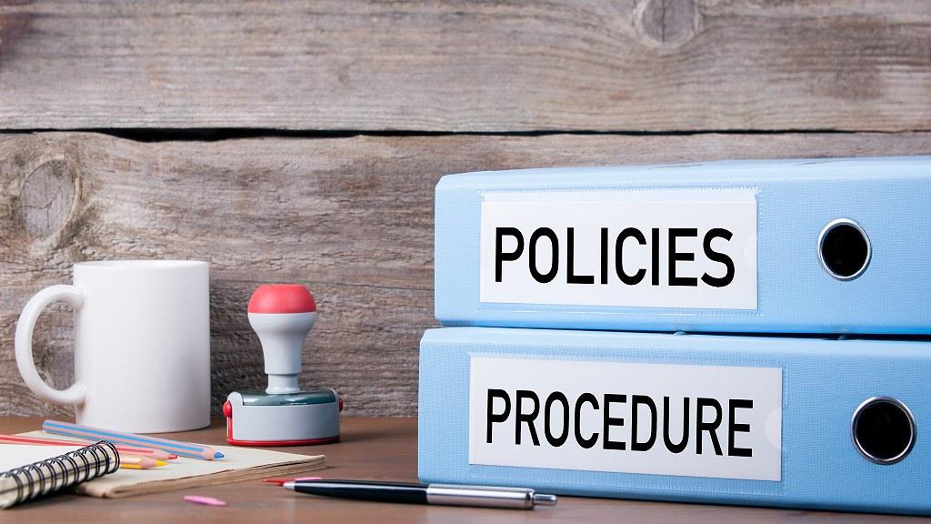 Policies and procedure folders