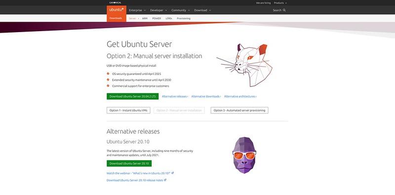 Ubuntu Server 20.10