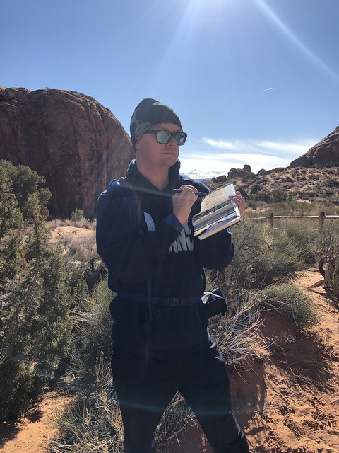 sketching at arches national park