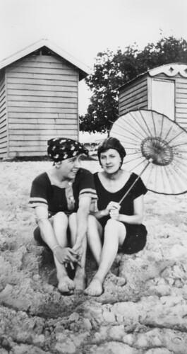 easter easterholidays queensland changingroom dressingsheds bathingcaps beachclothing women parasol swimsuits