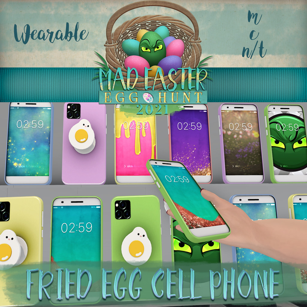 Easter Hunt Prize Reveal: Fried Egg Cell Phone