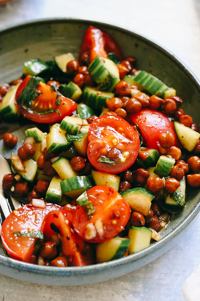 Make-Ahead Chickpea Salad with Date and Tamarind Dressing