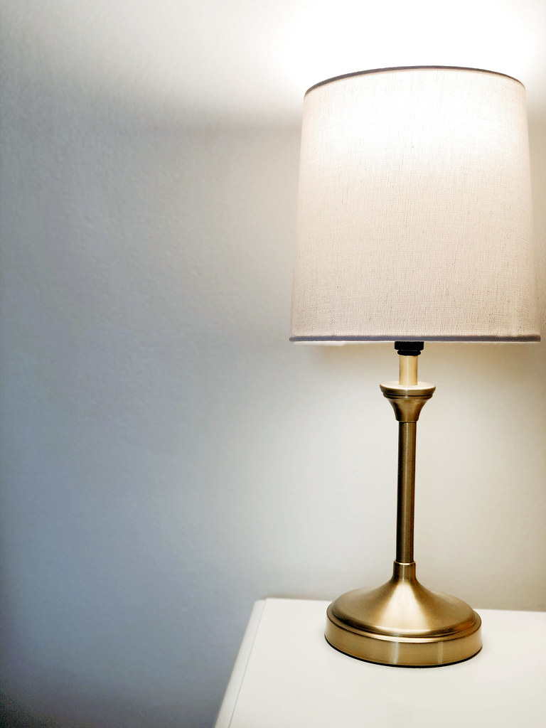 Small brass side table lamp from Target