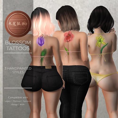 .[ KUMIHO ]. Blossom Tattoos