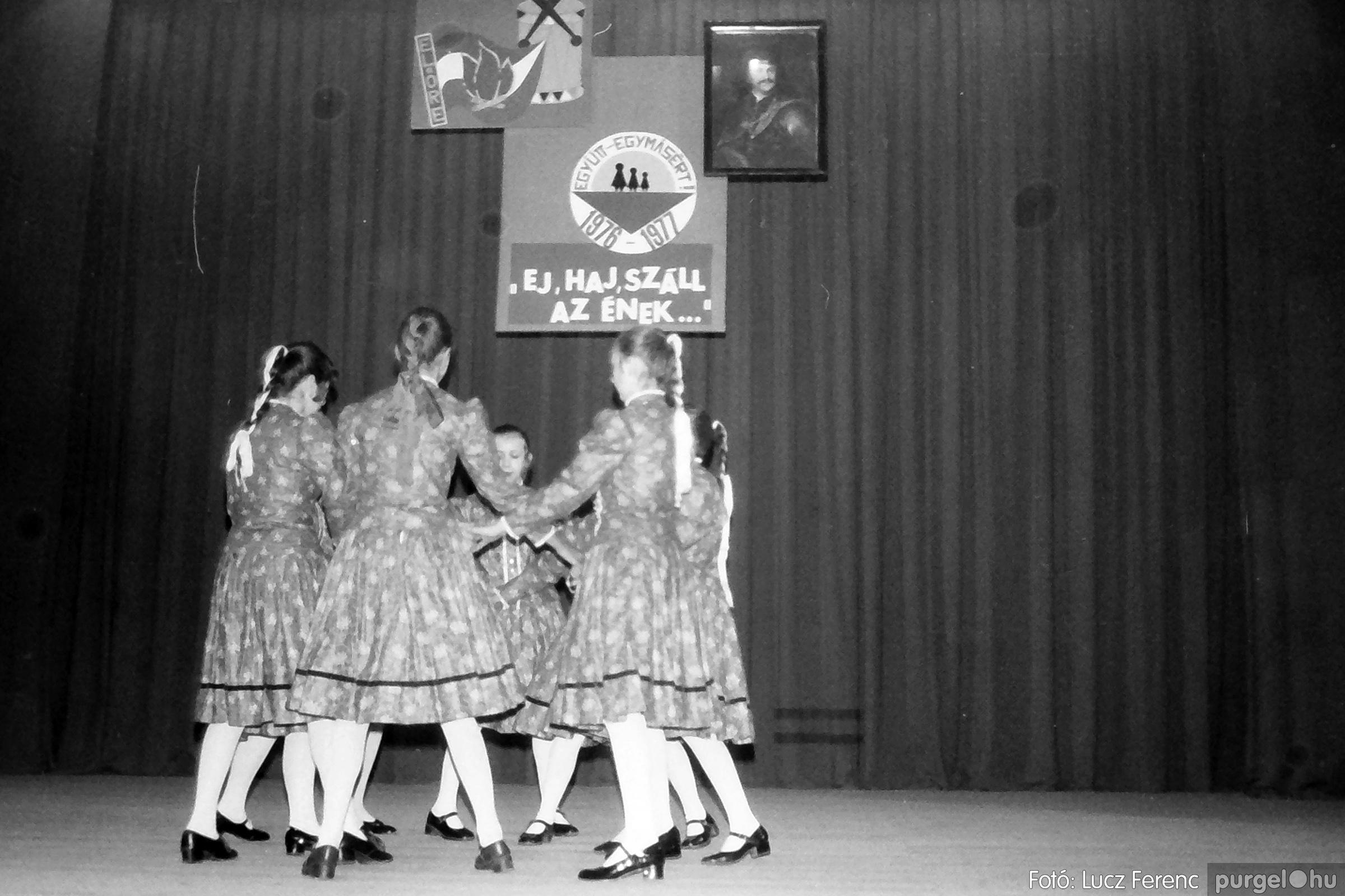 077. 1977. Kulturális seregszemle Mindszenten 006. - Fotó: Lucz Ferenc.jpg