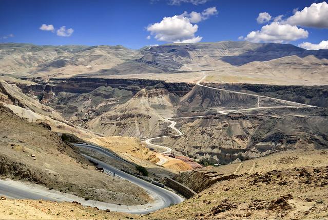Road to Ma'in Hot Springs site - Jordan.