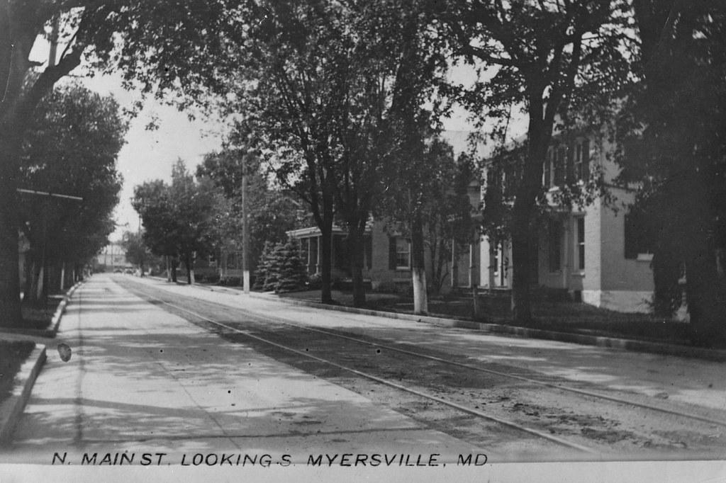 Main Street, Myersville, Maryland, Looking South, Postcard, Circa 1925
