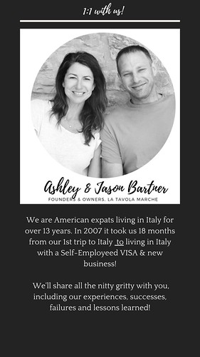 Jason and Ashley from La Tavola Marche. From Dreaming of Moving to Italy? Start here