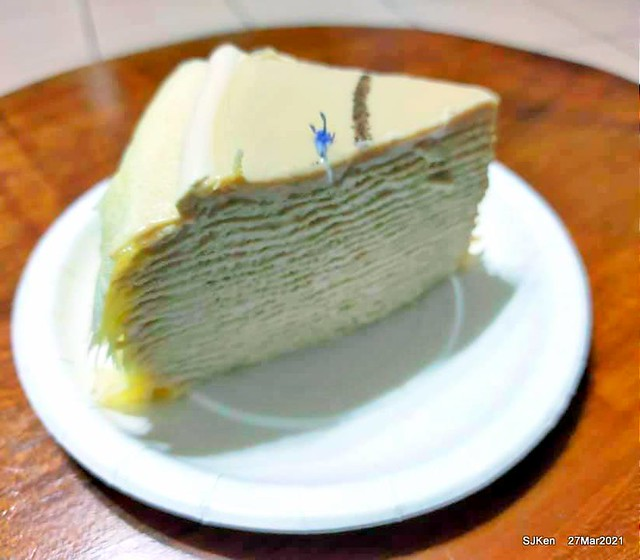 「9吋LADY M NEW YORK 伯爵紅茶千層蛋糕」(9 inches Birthday cake with Earl Gray Mille Crepes flavor from Lady M New York), Taipei, Taiwan, Mar, 27, 2021