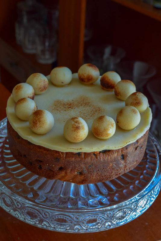 Simnel cake (gâteau de Pâques britannique)
