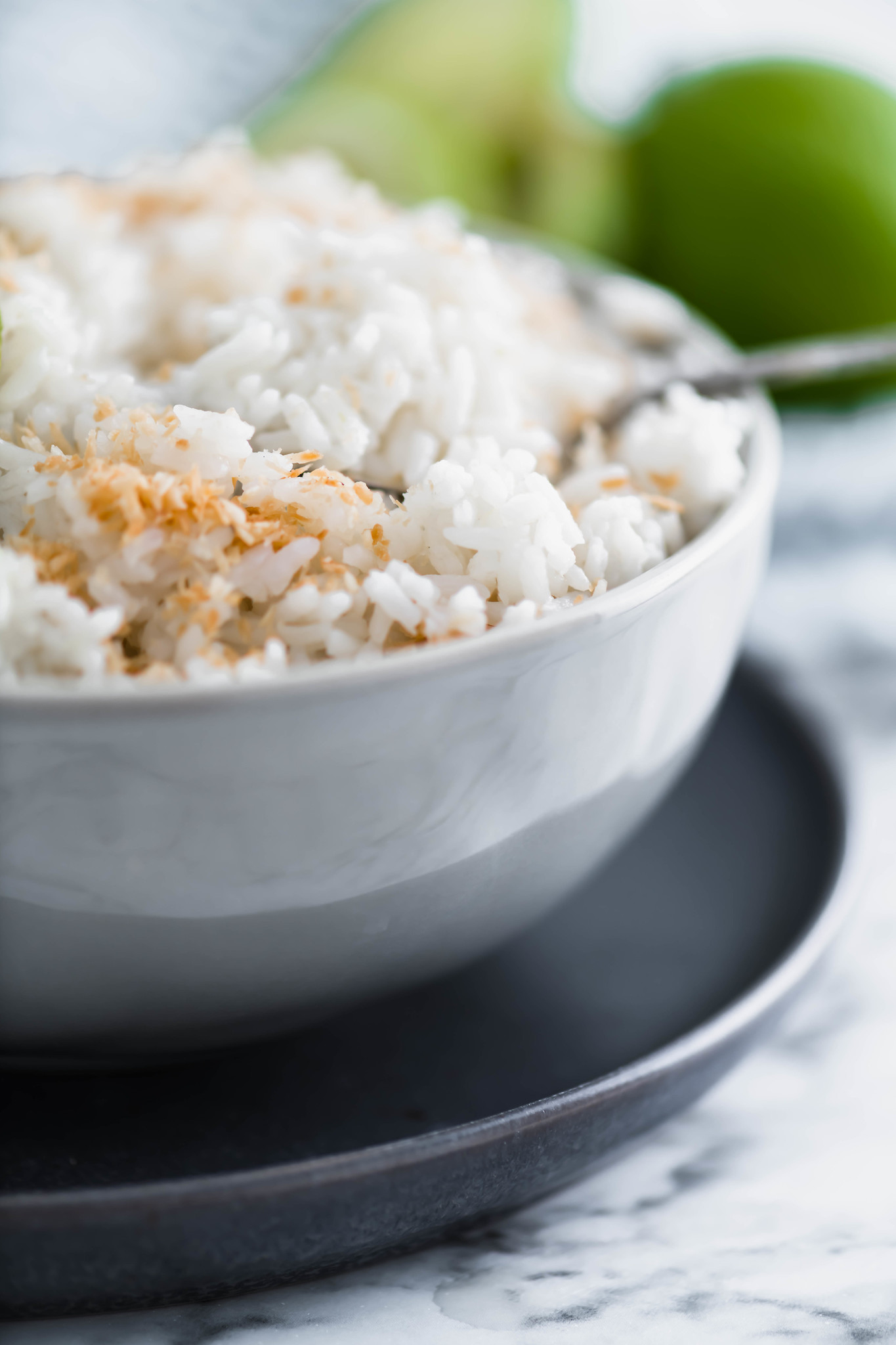 The Instant Pot obsession continues with this Instant Pot Coconut Lime Rice. Ridiculously easy to make and packed full of tropical flavor.
