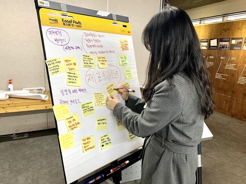 2020년 청참의 제로웨이스트 활동을 평가하는 모습