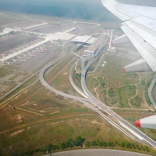 Landing at Changi Airport, Singapore.