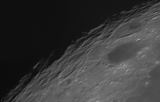 On the edge of the Moon (Lunar panorama 2021/03/27 21:28 UT)