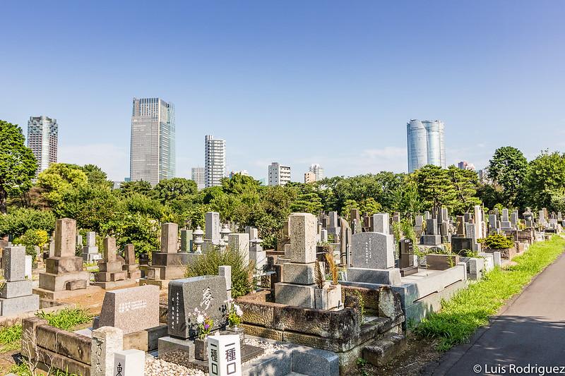 Tumbas y rascacielos de paseo por el cementerio de Aoyama