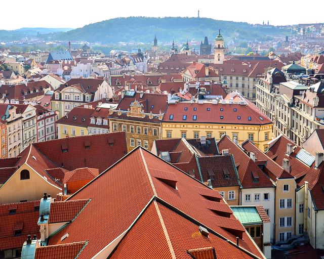 Tejados de Praga desde el ayuntamiento