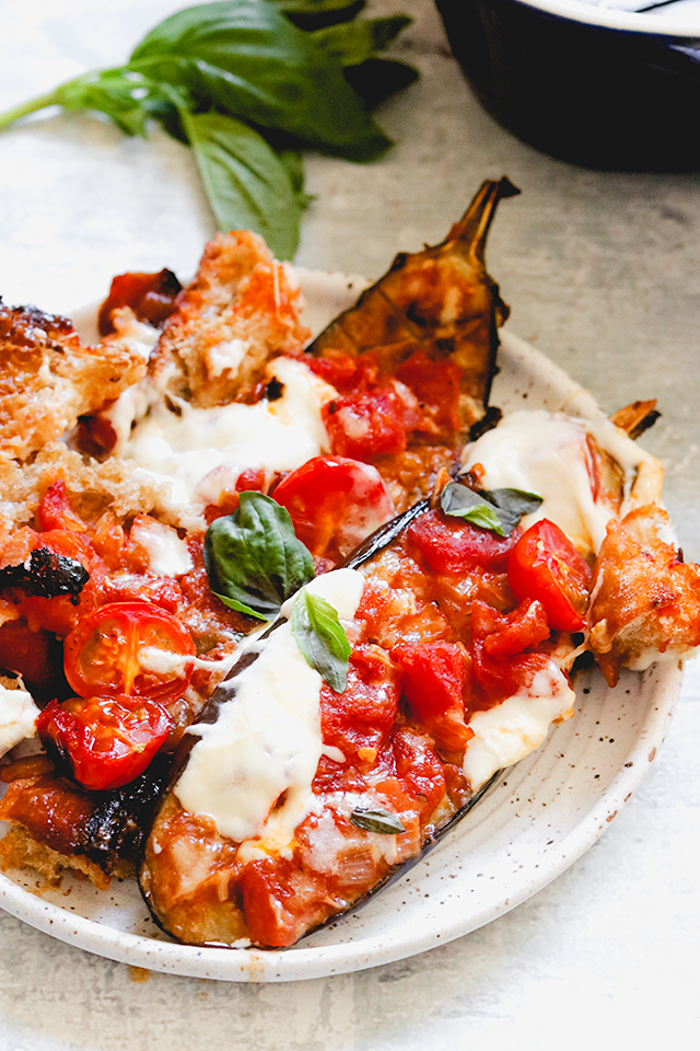 Not-Fried Eggplant Parmesan