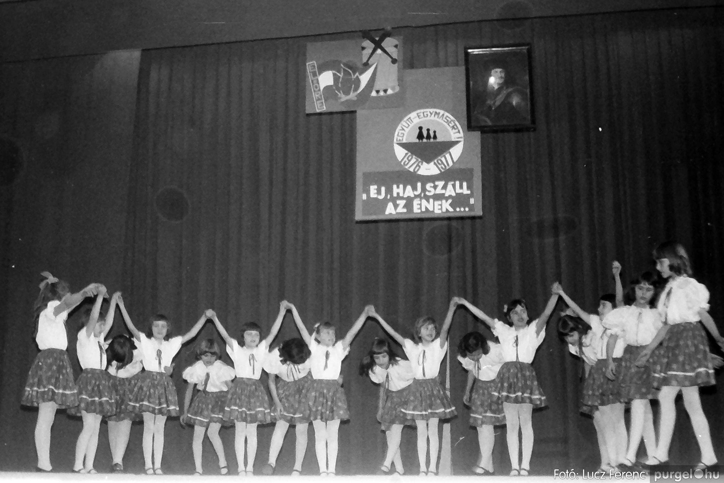 077. 1977. Kulturális seregszemle Mindszenten 004. - Fotó: Lucz Ferenc.jpg