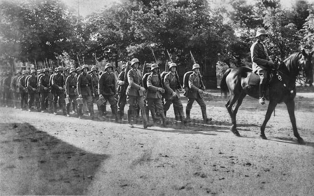 Reichswehr on the march, 1920s