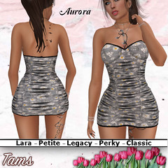 Crinkled Dress - Aurora